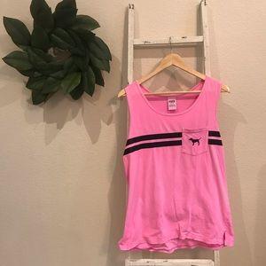 [VS Pink] Pink Sleeveless Tank Top